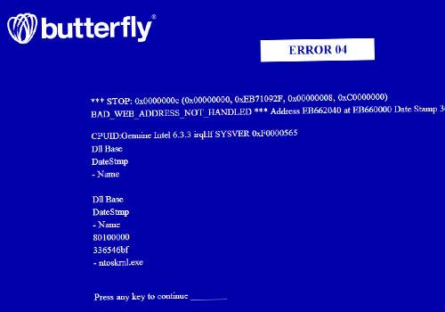Butterfly 404 Error