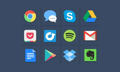 Huge Collection of Flat Icons that You Can Download Free