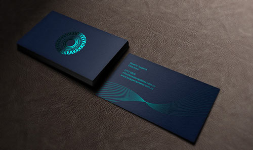 Pilates Foil Stamped Business Card