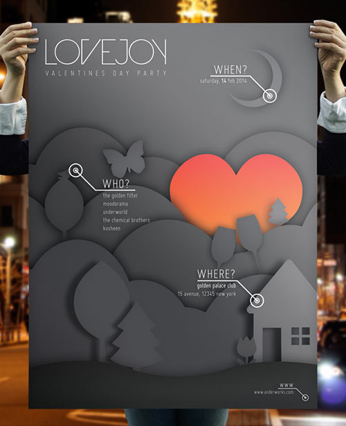 Lovejoy - Music & Event Flyer