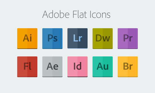 Adobe Flat Icons PSD