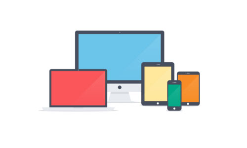 Apple devices - Flat Icons PSD