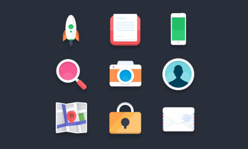 Flat Icons PSD 2