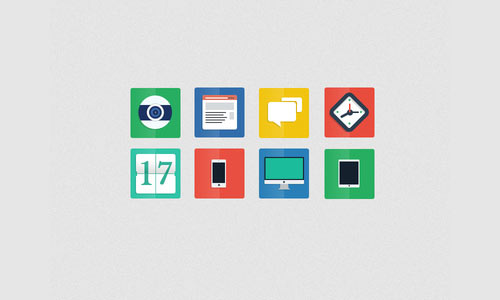 Freebie PSD - Flat Icons