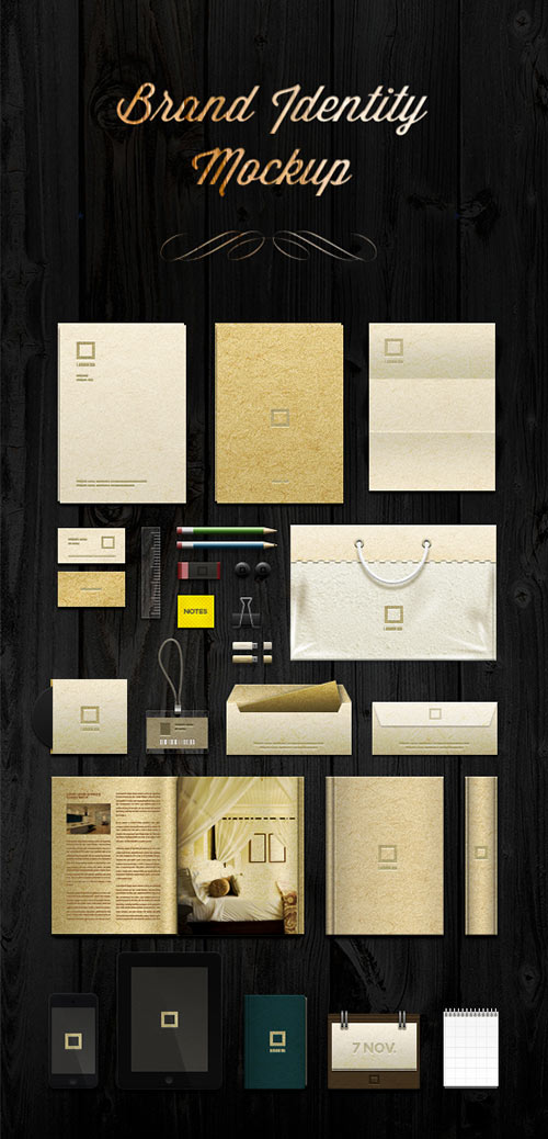 Brand Identity Mock-up Template PSD