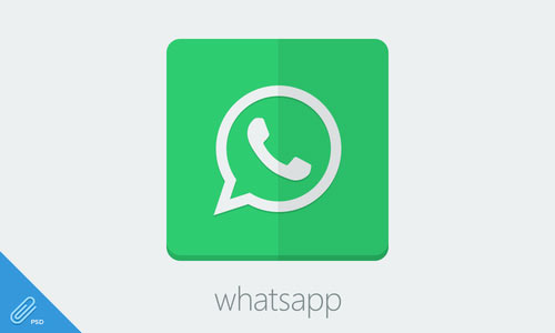 Flat Whatsapp Icon