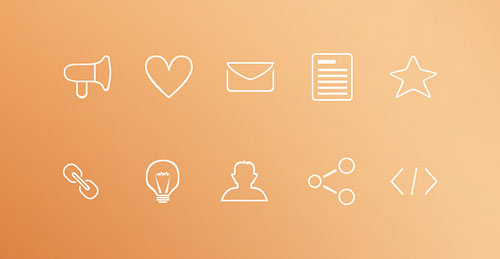 Minimal Outline Icons (PSD)