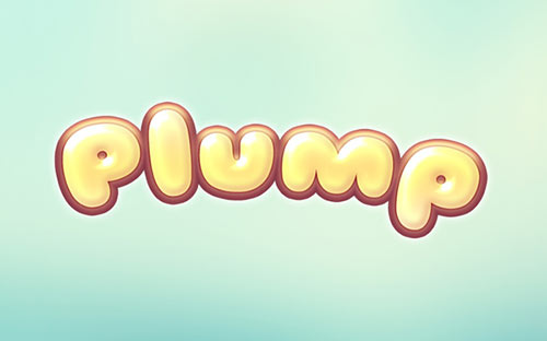 Plump Text Effect