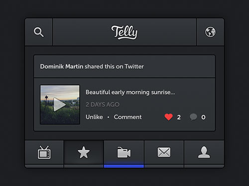 Telly iPhone App PSD