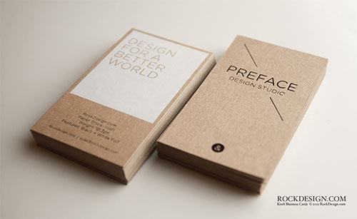 22 elegant business cards for your inspiration kraft business card reheart Image collections