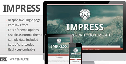 Impress - Responsive Parallax Single Page Theme