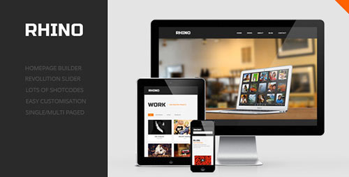 Rhino - Single Page Responsive WordPress Theme