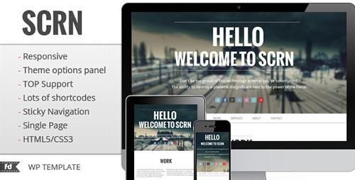 SCRN - Responsive Single Page Portfolio
