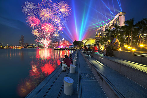 Combo - Marina Bay Laser Show + Fireworks