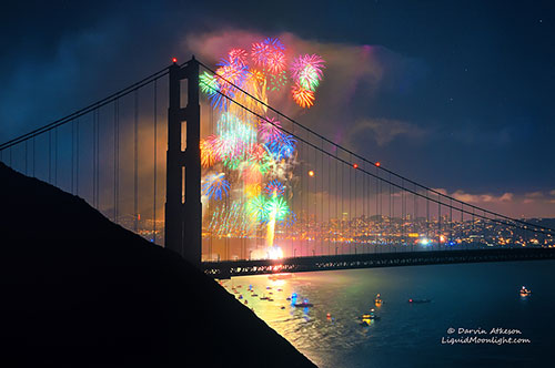 Rainbow of Fire - Golden Gate Bridge