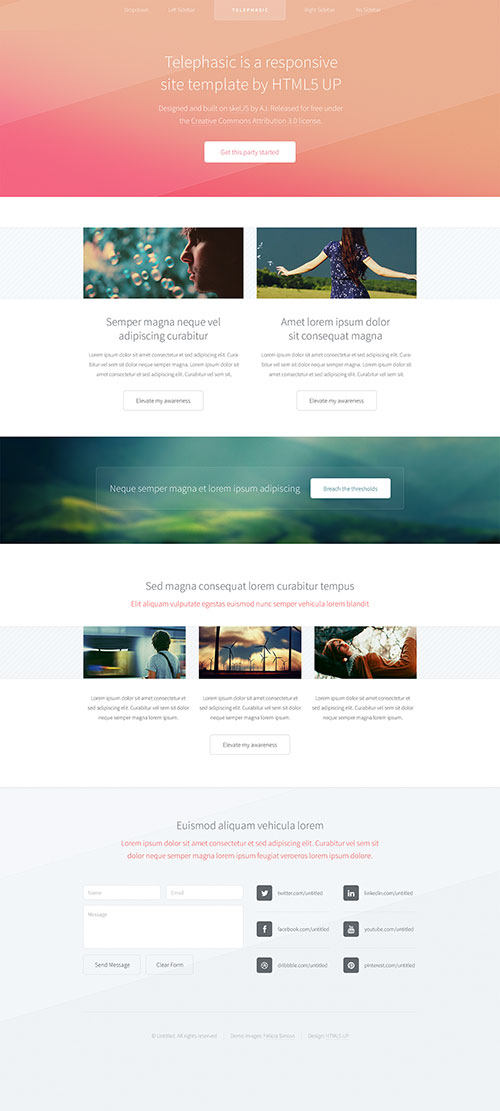Telephasic - Responsive HTML5 Site Template