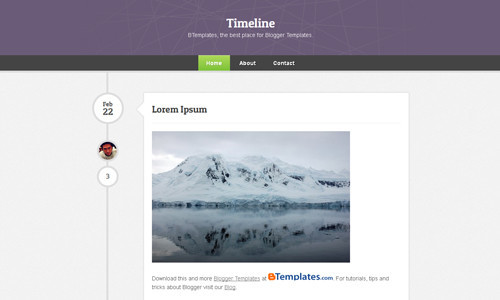 Most Popular And Favorite Blogger Templates - Timeline blogger template