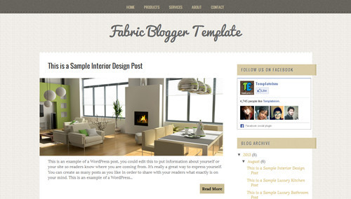 Fabric Blogger Template