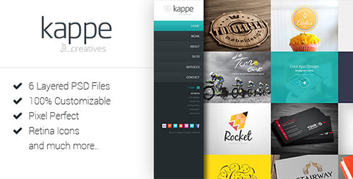 Kappe - Creative Full Screen HTML5 Template
