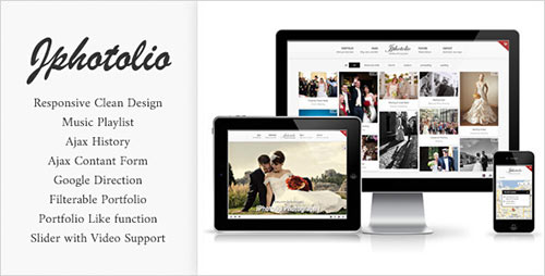 JPhotolio: Responsive Wedding Photography Template