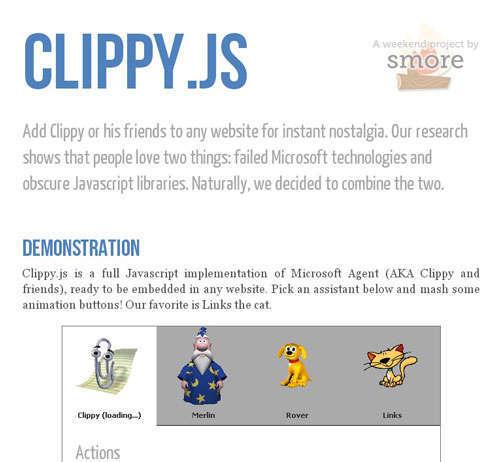 Clippy.js