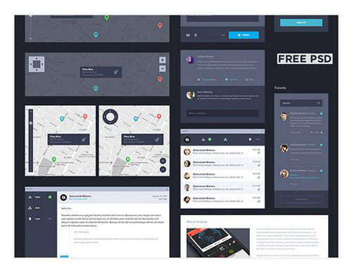 Dark UI Kit