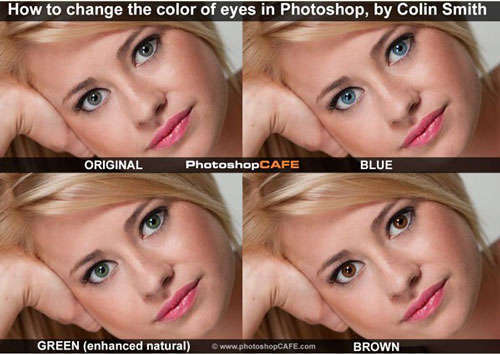 How to change the color of eyes in Photoshop