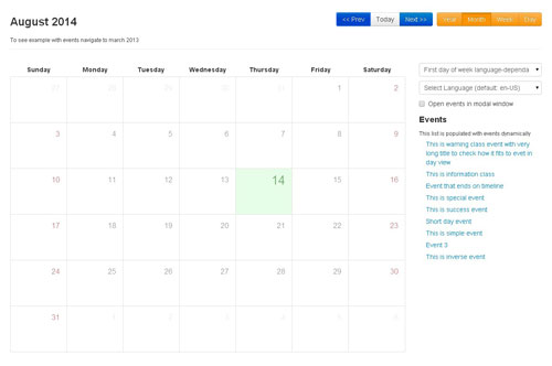 Weekly Calendar Bootstrap : Most effective bootstrap extensions and plugins