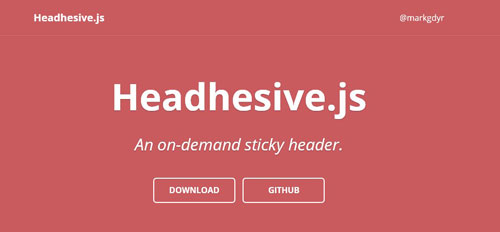 Headhesive.js : An on-demand Sticky Header