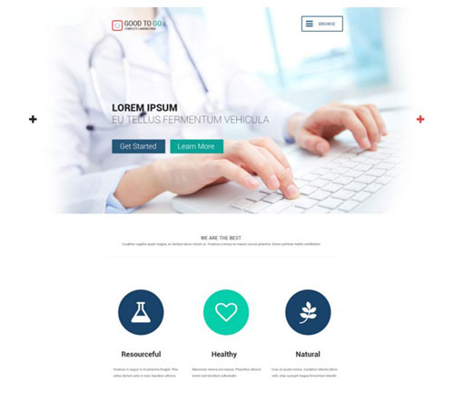 Good To Go Single Page PSD Template