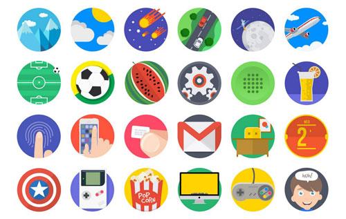 Mintie Icons – 110 Flat Icons