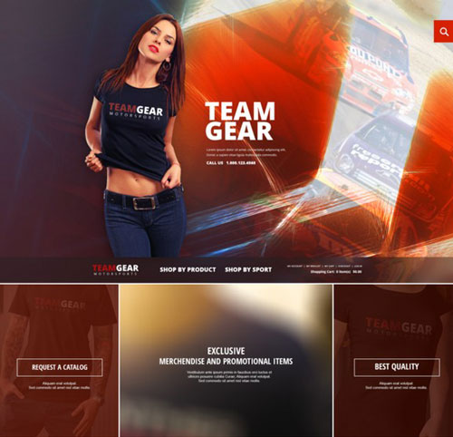 Team Gear - Online Shop Template