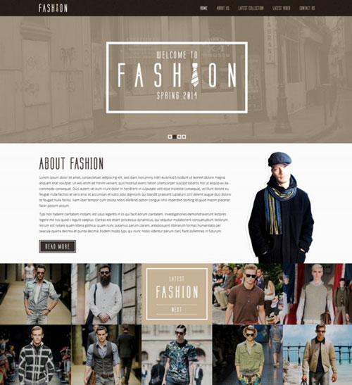 Free Fashion PSD Template