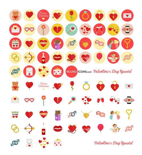 40 Valentine's icons