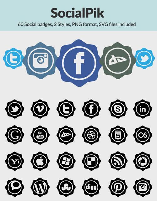 60 Free Social Media Icons