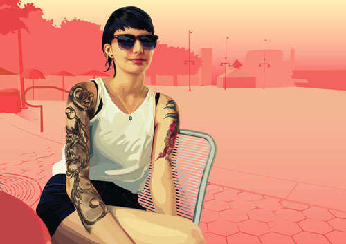 Tattoo Vector Girl