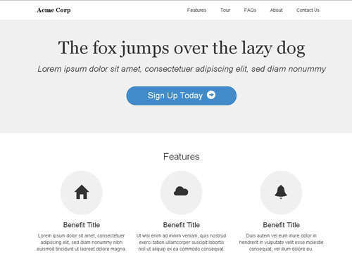 Lighter Template Bootstrap Template