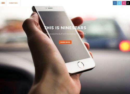 Ninestars Bootstrap Template