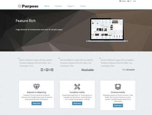mPurpose Bootstrap Template