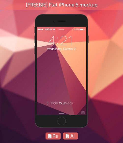 iPhone6 Flat Mockup