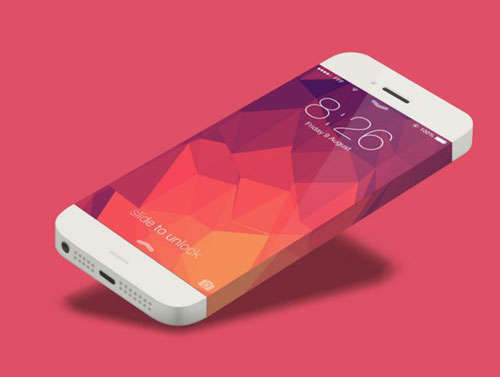 Minimal iPhone 6 Template PSD