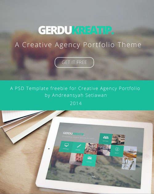 Gerdu Kreatip Agency Portfolio Theme