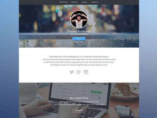 PSD Personal Website Template