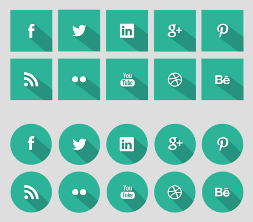 Social Icons Flat