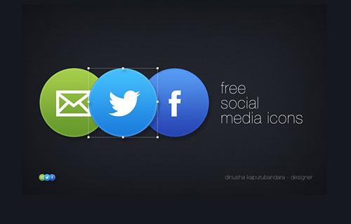 Free Social Media Icons PSD