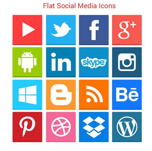 Flat Social Media Icon