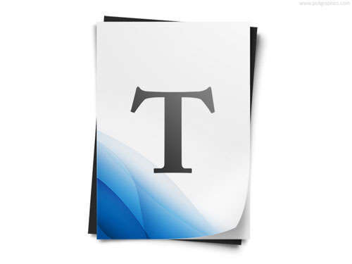 Text Document Icon PSD