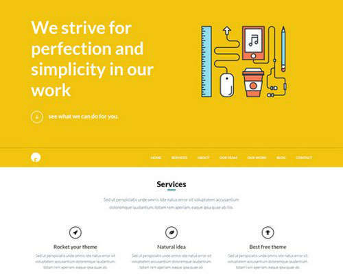 Free WordPress Theme PSD