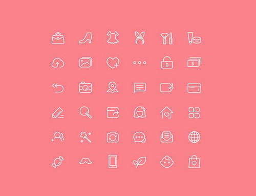 Ladies Icons PSD