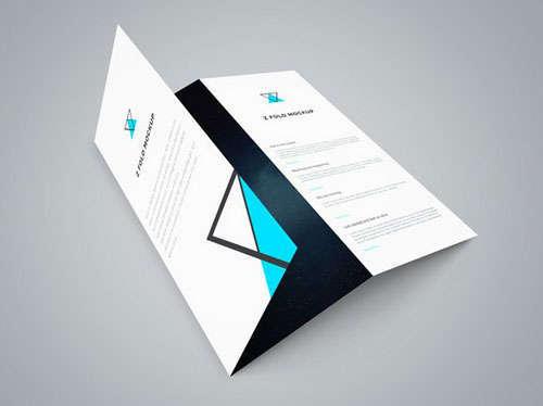 Tri Fold Brochure PSD Mockup